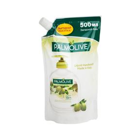 Жидкое мыло Palmolive Натурэль «Интенсивное увлажнение», с экстрактами оливы и увлажняющим молочком, запасной блок, 500 мл