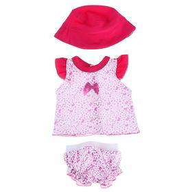 Одежда для кукол «Туника и трусики со шляпкой»