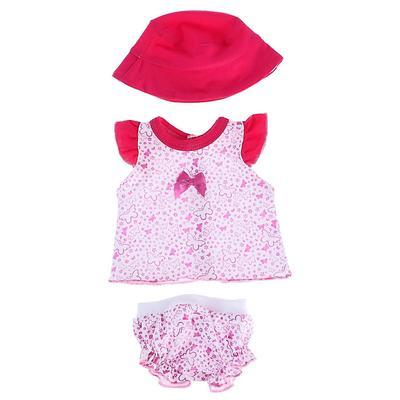 Одежда для кукол «Туника и трусики со шляпкой» - Фото 1