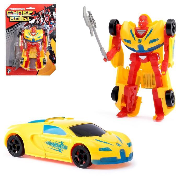 Робот «Суперкар», трансформируется, цвета МИКС
