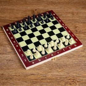 Настольная игра 3 в 1 'Карнал': нарды, шахматы, шашки, доска дерево 20.5х20.5 см, микс Ош