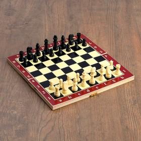 Настольная игра 3 в 1 'Карнал': нарды, шахматы, шашки, фишки - дерево, фигуры - пластик Ош
