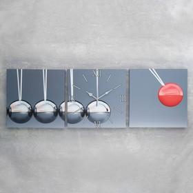 Часы настенные модульные «Шарики», 35 × 110 см Ош