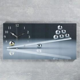 Часы настенные, серия: Интерьер, на холсте 'Весы', 40х76  см, микс Ош