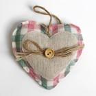 Подвеска «Сердце», с пуговкой и бантиком, цвета МИКС
