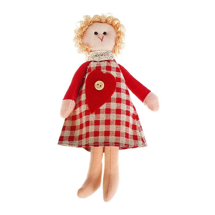 Мягкая игрушка «Кукла Ариша», сердечко на платье, цвета МИКС