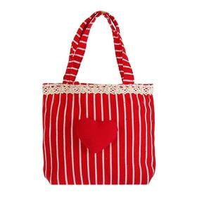 Подарочная сумочка «Сердечко», с оборочкой, цвета МИКС Ош