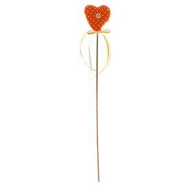 Мягкая игрушка «Сердце с пуговкой», на палочке, бантик, цвета МИКС