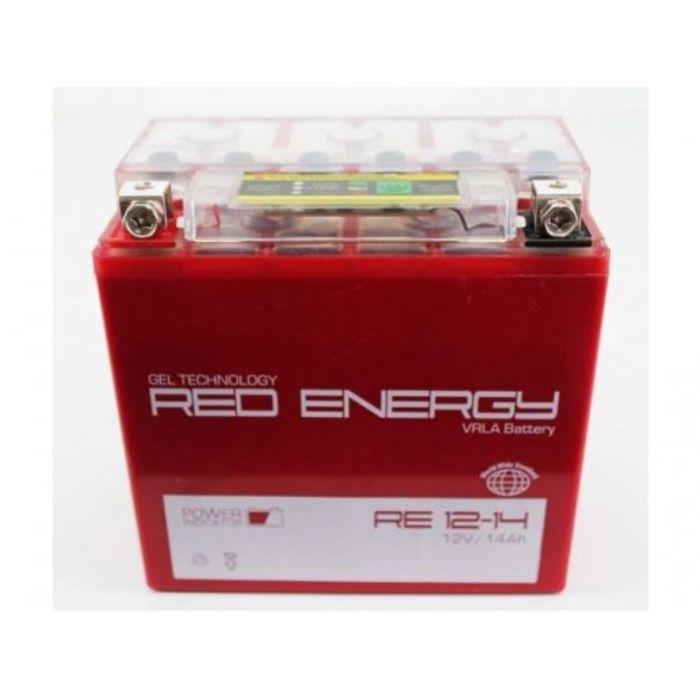 Аккумуляторная батарея Red Energy 12-14 moto 14 А/ч- 6СТ  AGM, тип. YTX14-BS