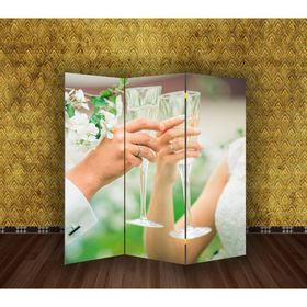 Ширма 'Свадьба. Бокалы' 150 × 160см Ош