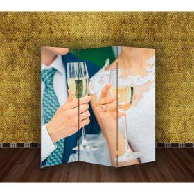 Ширма 'Свадьба. Молодожёны' 150 × 160см Ош