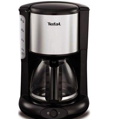 Кофеварка Tefal CM 361838, капельная, 1000 Вт, 1.25 л, серебристо-чёрная - Фото 1