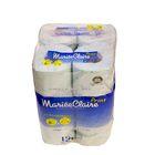 """Туалетная бумага двухслойная """"MARIEE CLAIRE"""", голубая с принтом IDESHIGYO , 27.5 м, 12 рулонов   207"""