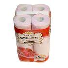 Туалетная бумага двухслойная, аромат персика и нектарина розовая IDESHIGYO , 30 м, 12 рулонов   2077