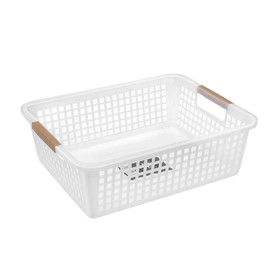 Корзина для хранения, 31×25×10 см, цвет белый