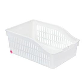 Корзина для хранения на колёсиках, 30,5×20,5×12,5 см, цвет белый
