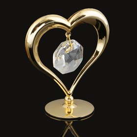 Сувенир «Сердце», на подставке, с кристаллом Сваровски, 6 см Ош