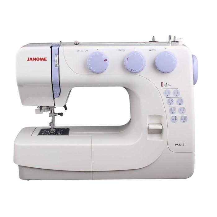 Швейная машина Janome VS54S, 60 Вт, 19 операций, автомат, бело-фиолетовая