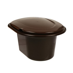 Ведро-туалет, 11 л, коричневый Ош