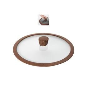 Стеклянная крышка с силиконовым ободом, 28 см GRETA