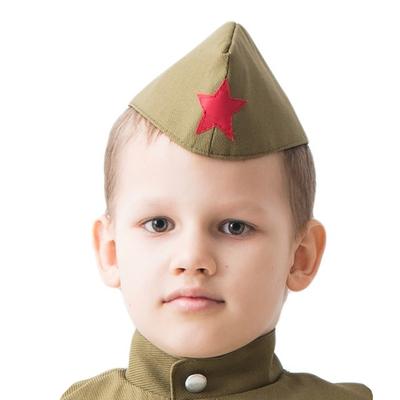 Пилотка военного детская, р. 50 см - Фото 1