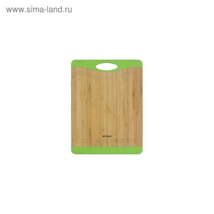 Разделочная доска из бамбука, 27 × 20 см KRASAVA