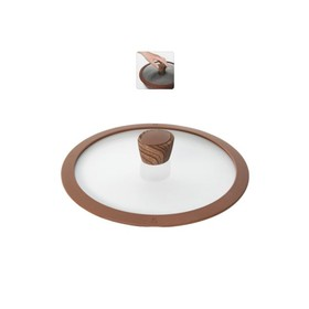 Стеклянная крышка с силиконовым ободом, 24 см GRETA