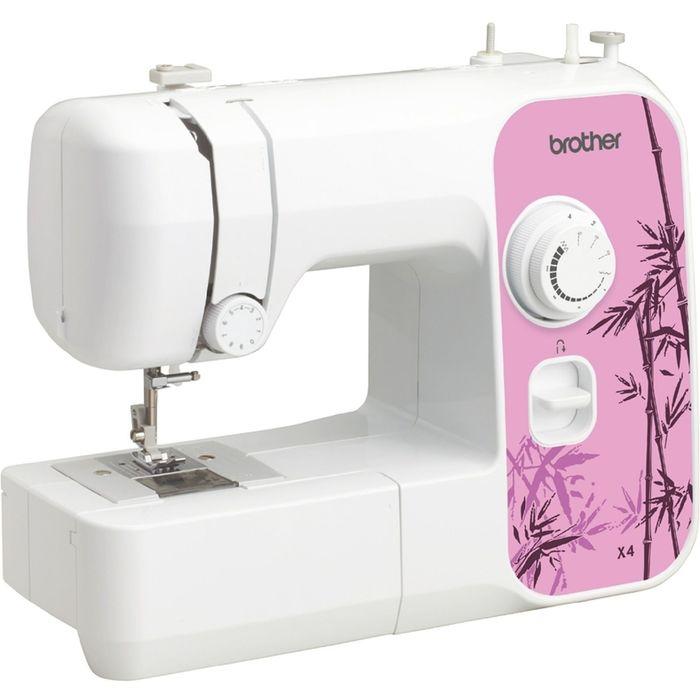 Швейная машина Brother X-4, 50 Вт, 4 операции, ручная, бело-розовая