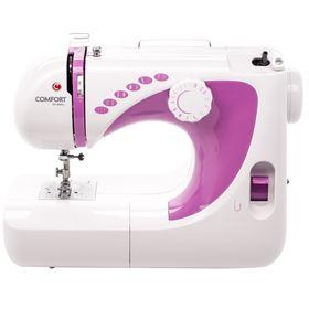 Швейная машина Comfort 250, эластичная строчка, полуавтомат обработка петли, белый/розовый Ош
