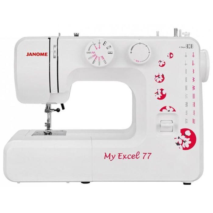 Швейная машина Janome MX 77, 15 операций, обметочная, потайная, эластичная строчка