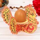 Подставка пасхальная на 1 яйцо «Хохлома. Петух»