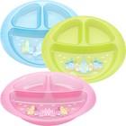 Тарелка детская трёхсекционная, диаметр 19 см, цвета МИКС