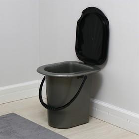Ведро-туалет, 17 л, серый Ош