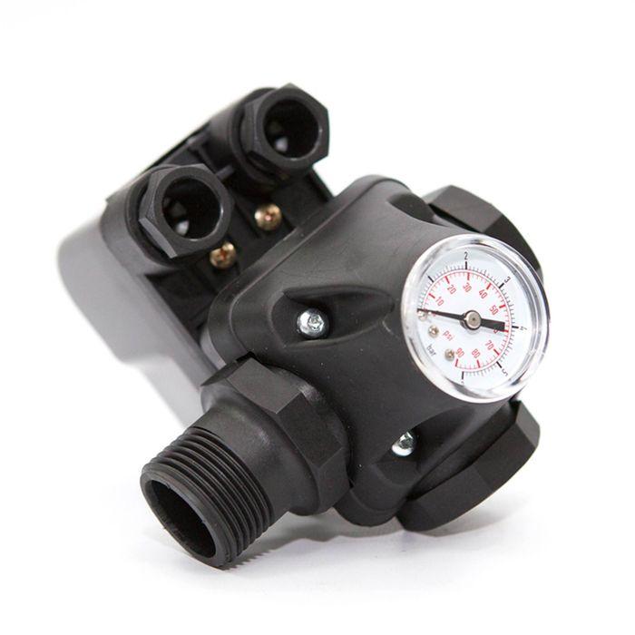 Реле давления ETERNA PC-9С, с манометром, рабочий диапазон 1-5 бар