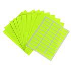 Набор 10 листов: ценники самоклеящиеся, 33 х 11 мм, 30 штук, на 1 листе, флуоресцентные, МИКС