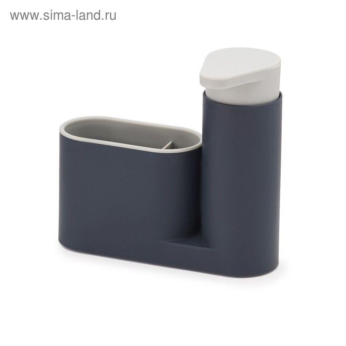 Органайзер для раковины Joseph Joseph Sink Base с дозатором для мыла, цвет серый