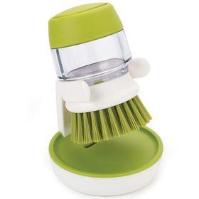 Щётка с дозатором моющего средства Joseph Joseph Palm Scrub, зелёная