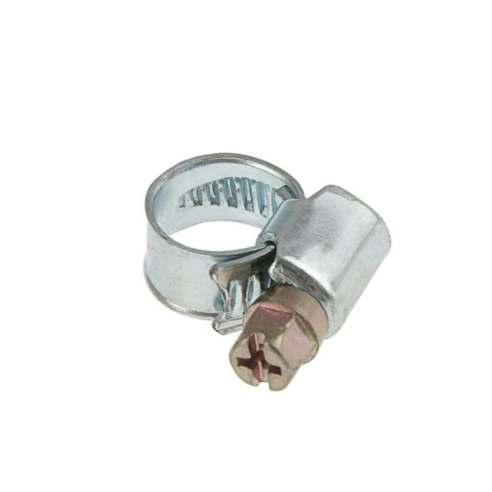 Хомут оцинкованный TUNDRA krep, несквозная просечка, диаметр 8-12 мм, ширина 9 мм