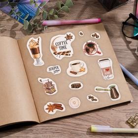 купить Бумажные наклейки Coffee time, 11 х 16 см