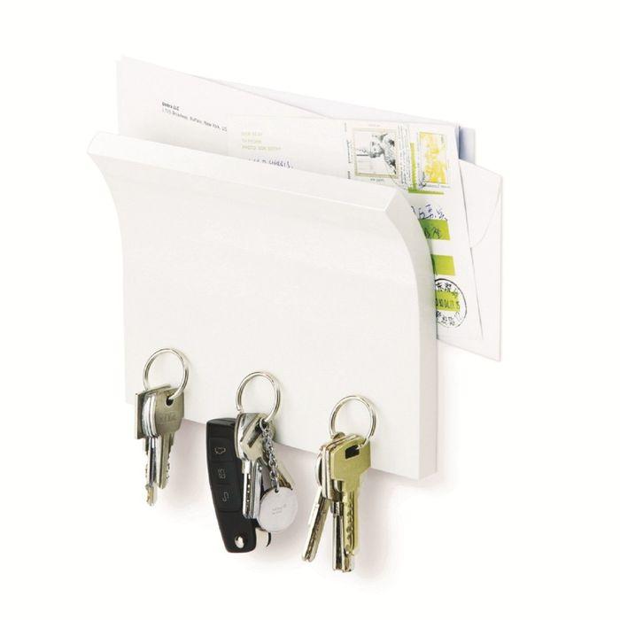 Держатель для ключей и писем Magnetter, белый