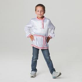 Русская народная рубаха для мальчика, р-р 60, рост 110-116 см Ош