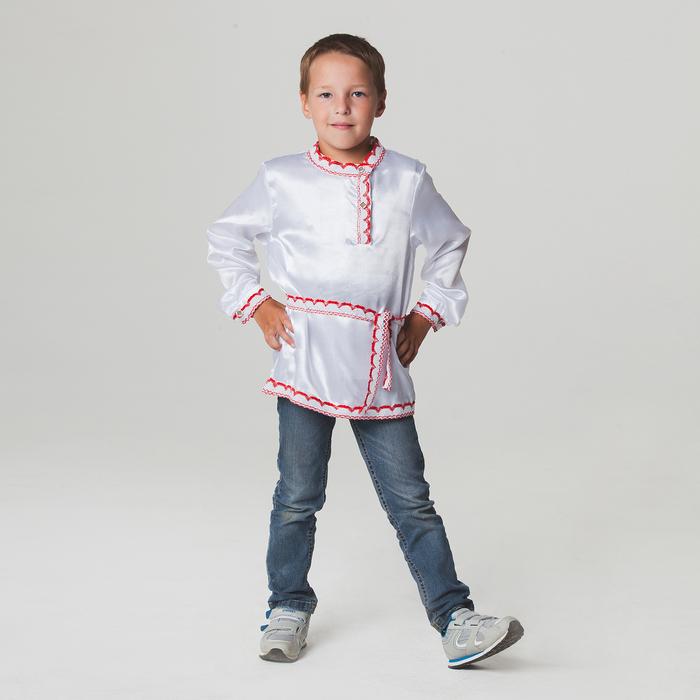 Русская народная рубаха для мальчика, р-р 60, рост 110-116 см