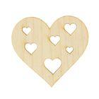 Заготовка сердце с сердцами 5х5 см
