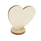 Заготовка сердце на подставке 6х6 см