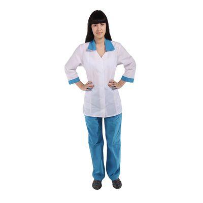 Костюм медицинский женский «Ева», размер 52-54, рост 170-176 см, цвет голубой
