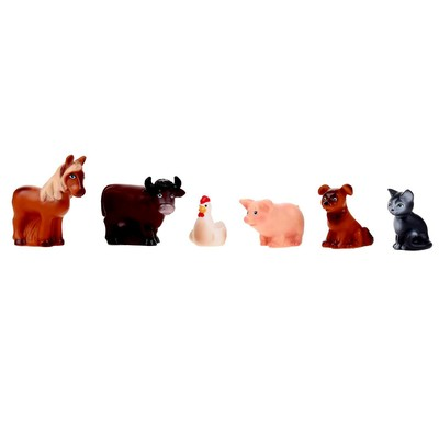 Резиновая игрушка «Набор Домашние животные» - Фото 1