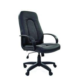 Кресло руководителя Chairman 429 экопремиум черный+ткань 20-23 серая