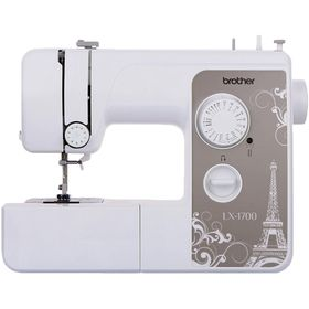Швейная машина Brother LX-1700S, 50 Вт, 17 операций, полуавтомат, бело-бежевая Ош