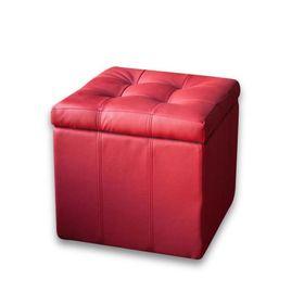 Банкетка-пуф «Модерна», красная