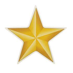 Наклейка на авто 'Золотая звезда' 85х85мм Ош